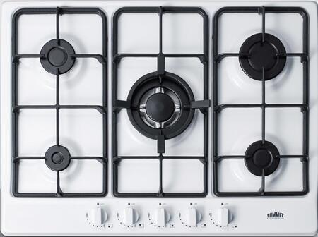 "GC5271W 27"" Gas Cooktop with 5 Sealed Burners  Wok Ring  Continuous Cast Iron Grates  in"