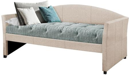 Westchester Collection 2019DBF Twin Size Daybed with Fabric Upholstery  Gently Arched Back and Sturdy Wood Construction in