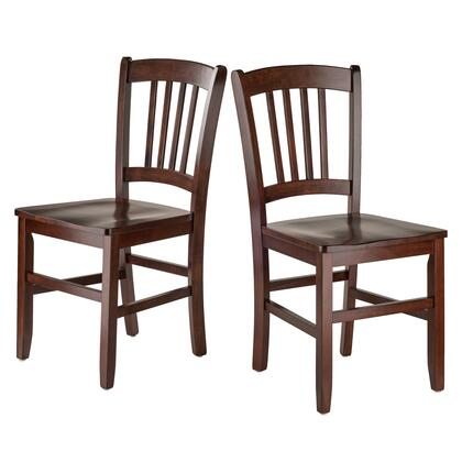 Madison Collection 94245 Set of 2 Slat Back Side Chairs in