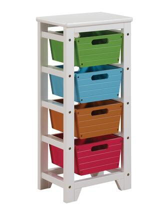 Darvin Collection 92153 16 inch  Storage Rack with 4 Baskets