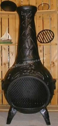 ALCH012CHGKLP Gas Powered Rose Chiminea Outdoor Fireplace in Charcoal - Liquid