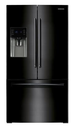"""RF263BEAEBC 36"""" French Door Refrigerator with 25 Cu. Ft. Capacity  10 lbs. Daily Ice Production  Twin Cooling Plus  External Ice/Water Dispenser  Door Alarm"""