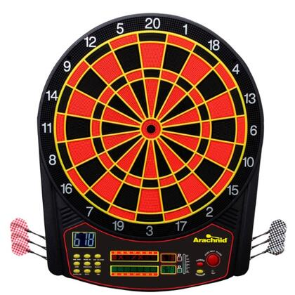 E450ARA Cricket Pro 450 Regulation 15.5 inch  Target Area Dartboard with 6 Soft-Tip Darts and Extra Tips  AC Adapter  Mounting Hardware  Game Instructions  and