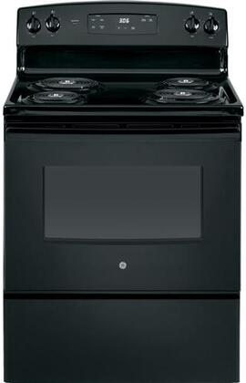 GE JBS360DMBB 30 Inch Freestanding Electric Range with 4 Coil Elements, 5 cu. ft. Primary Oven Capacity, in Black