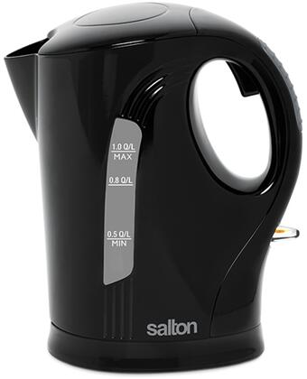 JK1641B 1 Liter Cordless Electric Jug Kettle with Stainless Steel Heating Element  Hinged Lid and Automatic Safety Shut Off in