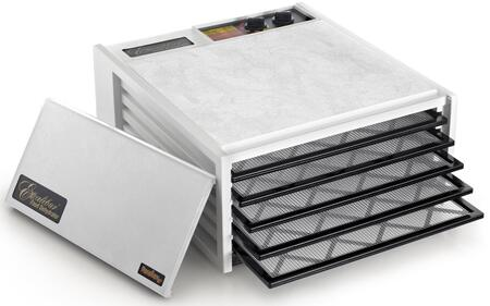 3526TW Deluxe Series Dehydrator with 5 Trays  8 Sq. Ft. of Drying Area  Adjustable Thermostat  26 Hour Timer  and 10 Year Limited Warranty in: