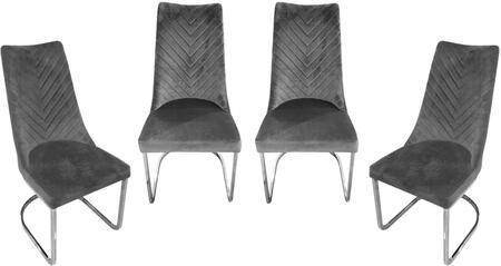 VOGUEDCGR4PK_Vogue_Collection_Dining_Chairs_(Sets_of_4)_with_Polished_Stainless_Steel_Base__Tufted_Seat_Back_Design_Detail_and_Velvet
