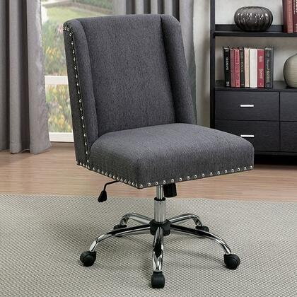 Lisette CM-FC642GY Office Chair with Contemporary Style  Wingback Chair  Sturdy Legs with Casters  Adjustable Height in