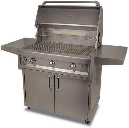 ARTP36C-NG  36 inch  Freestanding Grill on Cart with 3 Burner  Rotisserie  Side Shelves 6000 Grilling Surface BTU  in Stainless
