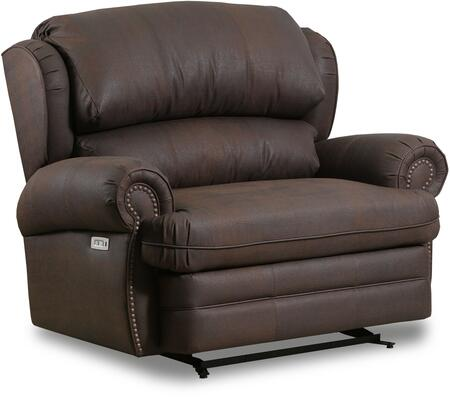"""57000-195_Cody_Java_52""""_Cuddler_Recliner_with_Rolled_Arms_and_Nailhead_Accents_in"""