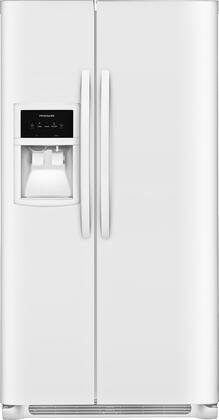 Images FFSS2625TP 36 Side-by-Side Refrigerator with 25.5 cu. ft. Capacity LED Lighting External Ice and Water Dispenser 2 Store-More Glass Shelves 2 Wire Freezer