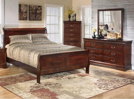 Alisdair King Bedroom Set With Sleigh Bed  Dresser And Mirror In Dark