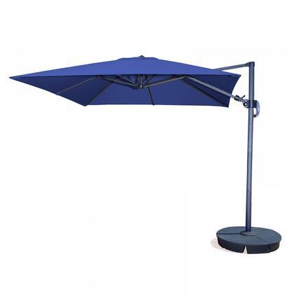 NU6080 Santorini II 10-ft Square Cantilever Umbrella in Blue Sunbrella