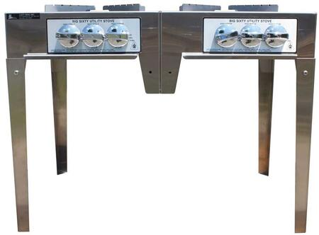 SSBIG60IIN 120 000 BTU 3 Ring Double Burner Utility Stove in: Stainless