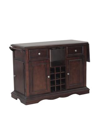 Alton Collection 14d8073c 51 Kitchen Island With 12 Wine Bottle Rack  Glass Holders  Two Drawers And Towel Rack In