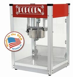 1104530 4-Oz. 16 inch  Red Gatsby Popcorn Machine with High-Output  Hard-Coat Anodized Aluminum