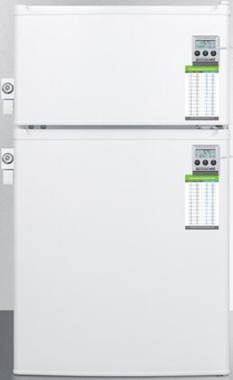 CP351WLLMEDADA 20 inch  ADA Compliant Top Freezer Compact Refrigerator with 2.9 cu. ft. Capacity  Energy Star  NIST Calibrated Thermometers  2 Side Mounted Locks