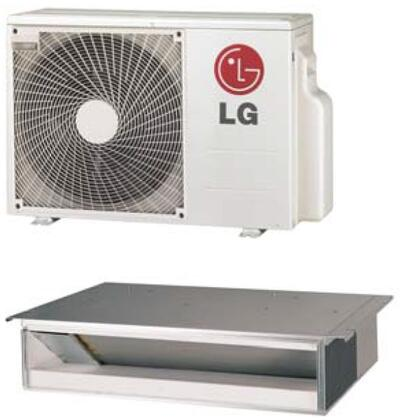 LD127HV4 Single Zone Low Static Duct Mini Split System with 11600 Cooling Capacity  16000 Heating Capacity  Inverter  Sleep Mode  Timer  and Control