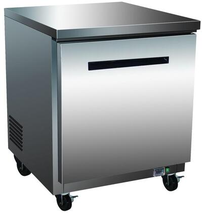 MXCR27U Undercounter Refrigerator with 6.5 cu. ft. Capacity  4 Casters  Self Contained  Automatic Defrost  Forced Air Refrigeration and Efficient Cooling
