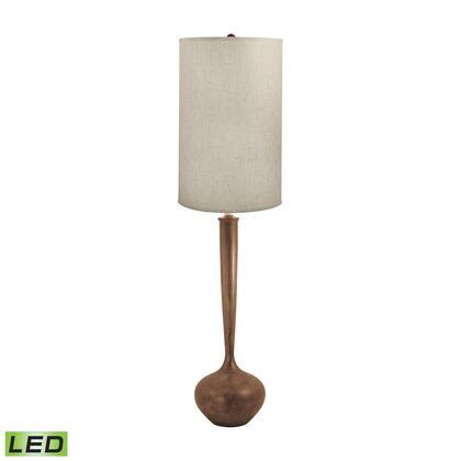 444-LED Wooden Tulip LED Floor Lamp Woodtone