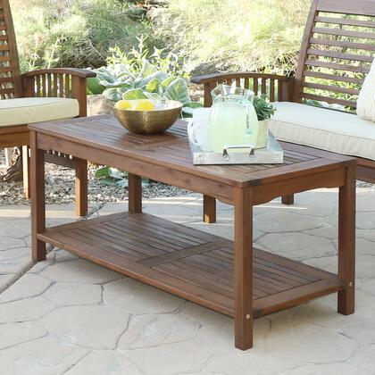 OWCTDB Acacia Wood Patio Coffee Table - Dark