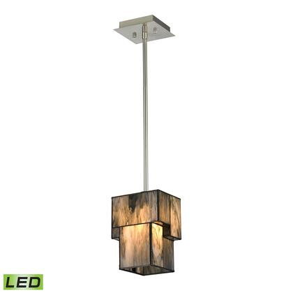 72072-1-LED Cubist Collection 1 Light mini Pendant in Brushed Nickel -