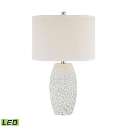 D2910-LED Farrah 1 Light LED Table Lamp in White