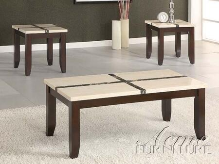 Justin 16558 3 PC Coffee and End Table Set With 1 48