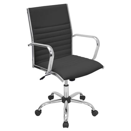 OFC-AC-MSTR BK Master Height Adjustable Office Chair with Swivel in