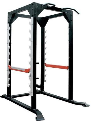 XM-5094 Iron Power Cage with Adjustable Spotter Arms  Rubber Feet and Multi-Grip Chin up Bar in