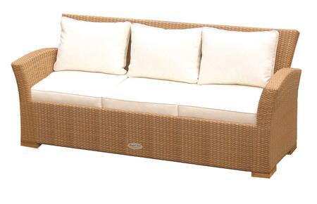 CHA3H 72 inch  Charleston Sofa in Honey with White