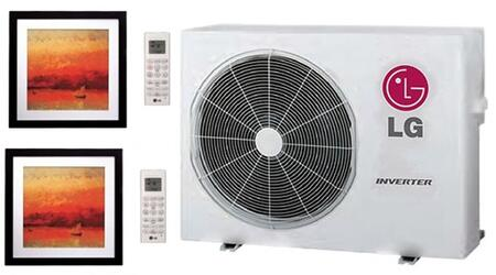 LMU24CHVPACKAGE11 Dual Zone Mini Split Air Conditioner System with 24000 BTU Cooling Capacity  2 Indoor Units  and Outdoor