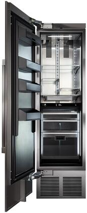 CR24R-1-2L 24 inch  Left Hinge Solid Door Column Refrigerator with Stainless Steel Interior  Spill-proof Glass Shelves  Humidity Control  and 4 Temperature Zones
