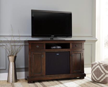 Porter Collection W697-120A41 2-Piece Set with TV Stand and W100-41 Large Integrated Audio Unit in Rustic