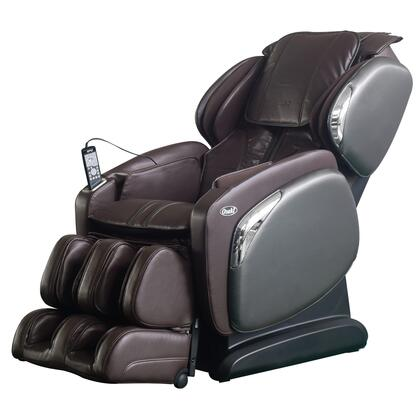 OS-4000CS BROWN Massage Chair with Space Saving Recline  Lumbar Heating Pad  Zero Gravity Positioning  24 Airbag Massage and 6 Massage Techniques in