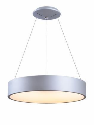 Revolution 94104SIL 36 Watt LED Pendant Ceiling Light with 36 Watt LED  1600 Lumens; 2800-3000K Color Temp; 90+ CRI in Silver