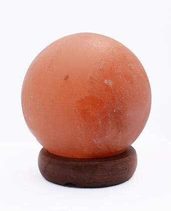 AMC95003-5 5 inch  Sphere Shaped Himalayan Salt Lamp 1.5 with
