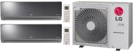 Dual Zone Mini Split Air Conditioner System with 30000 BTU Cooling Capacity  2 Indoor Units  and Outdoor 730411