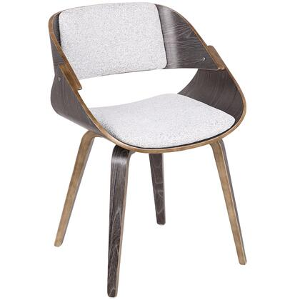 CH-FRTNO DGY+W Fortunato Mid-Century Modern Dining/Accent Chair in Dark Grey with White