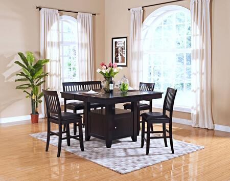 4510210CCB Kaylee 6 Piece Counter Height Dining Room Set with Table  Four Chairs and Bench  in