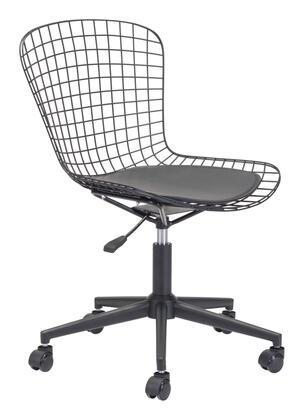 100949 Wire Office Chair Black W/ Black