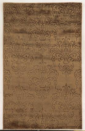 VILVT864700120203 Villa Travina VT8647-2' x 3' Hand-Loomed 100% Viscose Rug in Brown   Rectangle