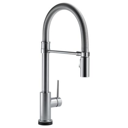 Trinsic 9659t-ar-dst Delta Trinsic: Single Handle Pull-down Spring Spout Kitchen Faucet With Touch2o Technology In Arctic