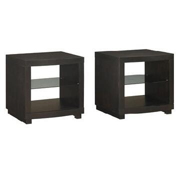 EC2050OT22-E451 Brockton End Tables W/ Espresso