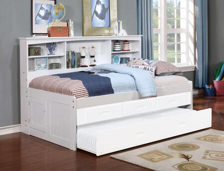 0222W 78 inch  Twin Bookcase Daybed in