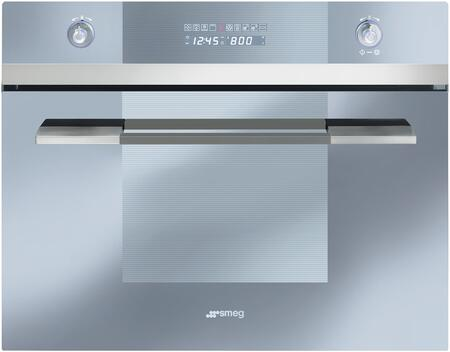 Smeg SCU45MCS1 24 Linea Series Built-In Speed Wall Oven with 1000 Watt Microwave True European Convection 10 Cooking Modes Stainless Steel Cavity and Digital LED Display in Stainless
