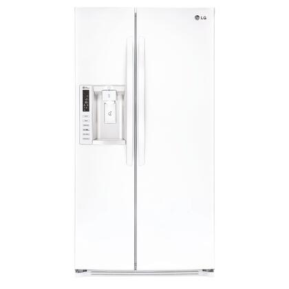 LG 26.2 Cu. Ft. Side-by-Side Refrigerator with Thru-the-Door Ice and Water White LSXS26326W