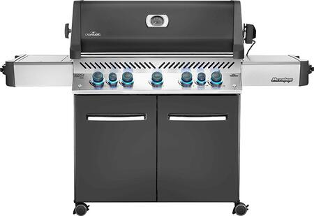 Napoleon Prestige 665 Natural Gas Grill with Infrared Rear Burner and Infrared Side Burner Charcoal Gray P665rsibnch (2019)