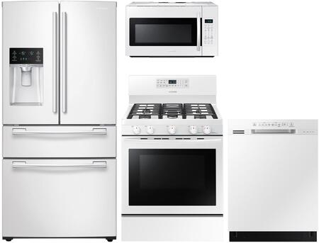 4 Piece Kitchen Appliance Package with RF25HMEDBWW 33