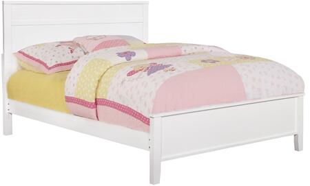 Ashton Collection 400761F Full Size Panel Bed with Clean Line Design  Low Profile Footboard  Sleek Tapered Legs and Wood Construction in